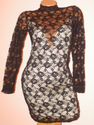 Csodaszép,csinos,duplaanyagú csipke ruha! S,M,L