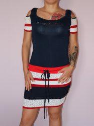 Csodaszép,csíkos,válla nyitott RUCY FASHION ruha! S,M,L