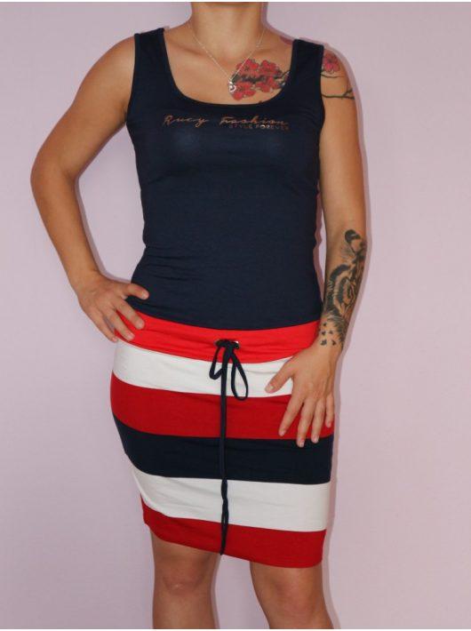 Csinos,csíkos,trikópántos RUCY FASHION ruha! S,M