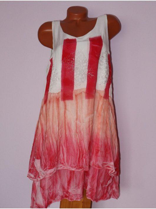 Csodaszép,batikolt,trikópántos,duplaanyagú tunika! Több szín! L-XL