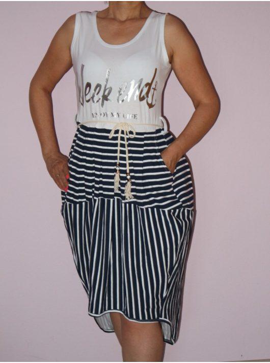 Vagány,csíkos,zsebes,hátulja hosszabb ruha!  Több minta!  S-XL